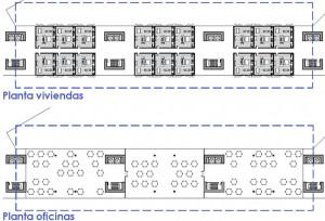 1006 12 plantas ofcina y vivienda